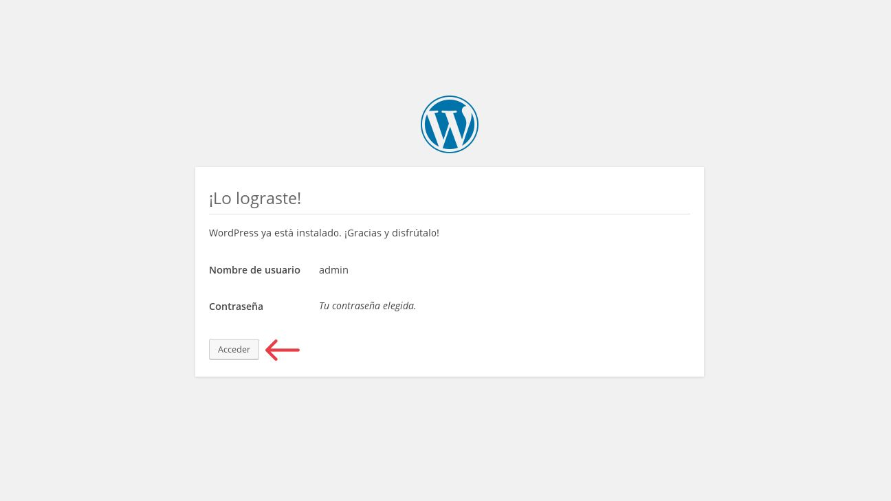 Lo lograste WordPress