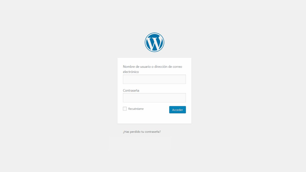 Pantalla wp-admin de WordPress