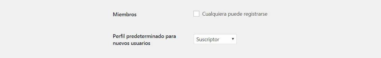Selecciona el perfil para los nuevos usuarios