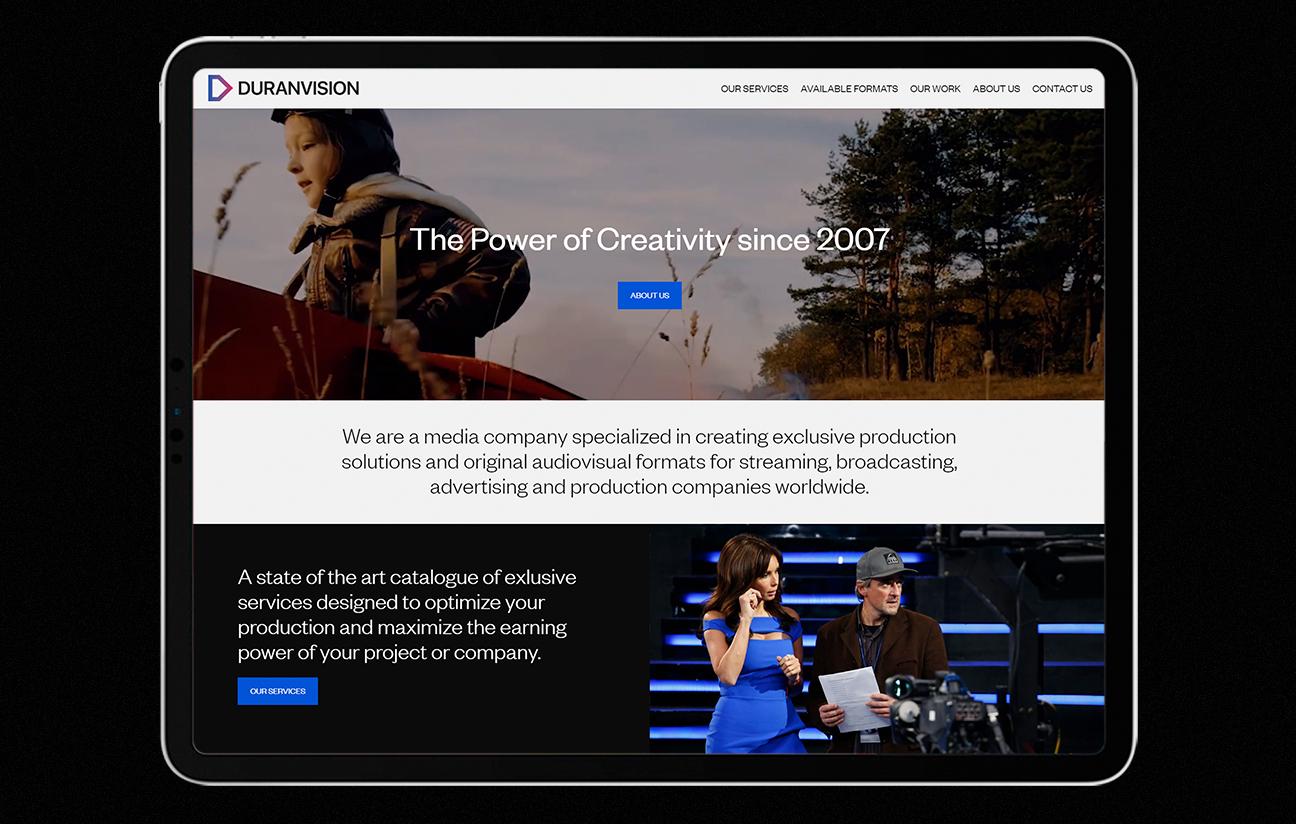 Inicio web DURANVISION Media Corp.