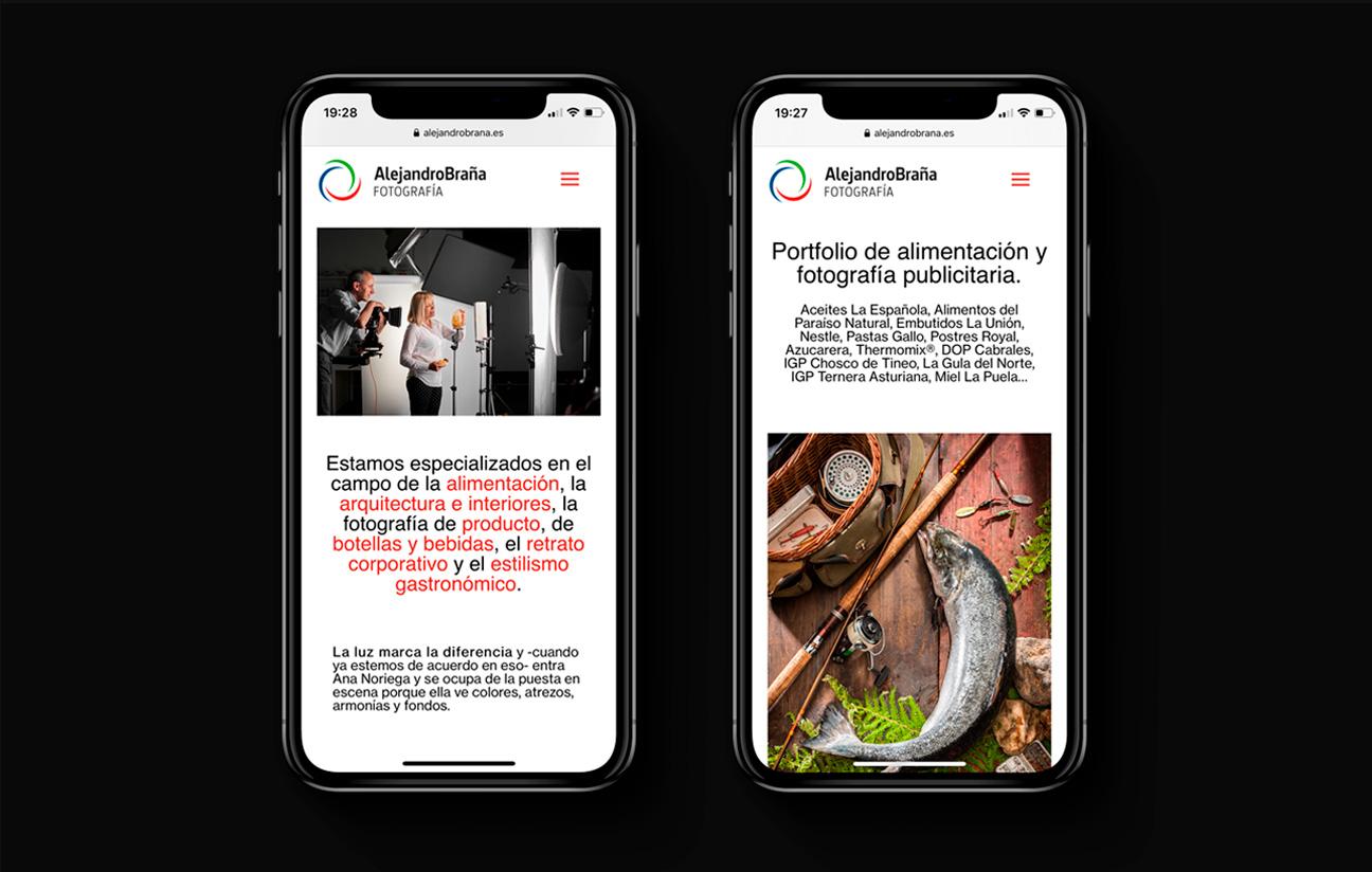 Web Alejandro Braña versión móvil.
