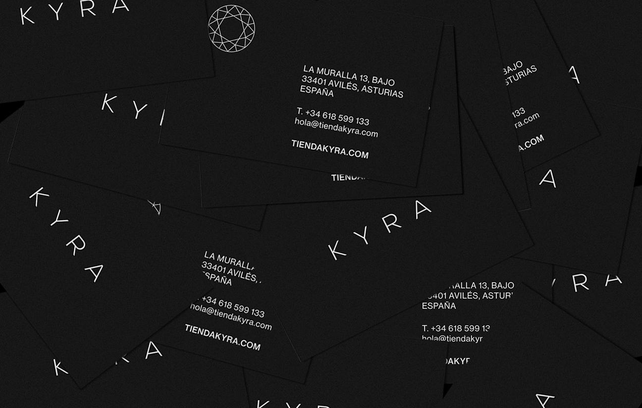 Tarjetas de visita para KYRA.